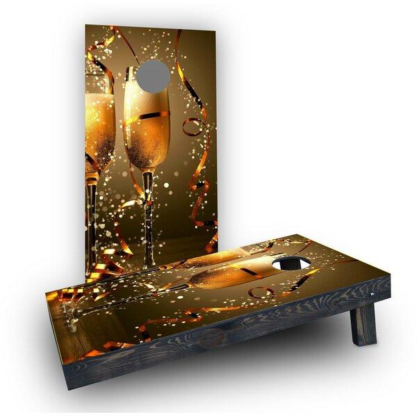 Champagne Celebration Toast Cornhole Boards (Set of 2) by Custom Cornhole Boards