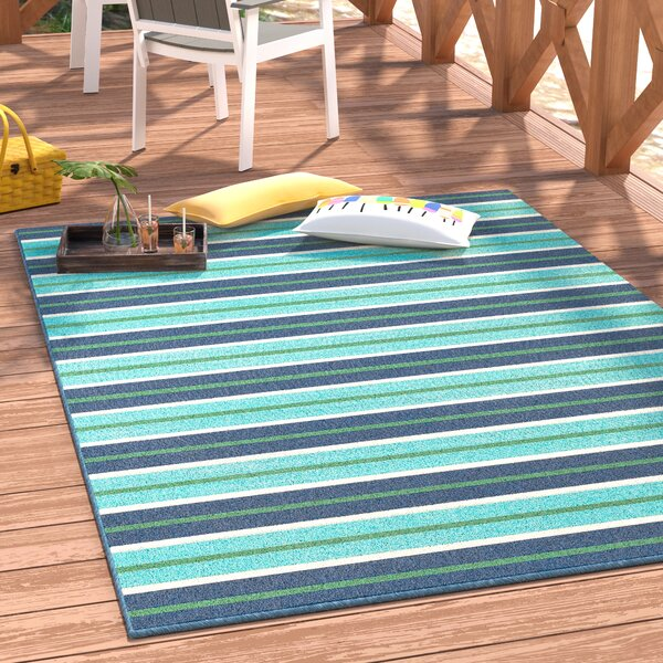Kailani Blue/Green Indoor/Outdoor Area Rug by Beachcrest Home