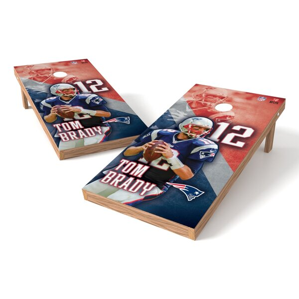 NFLPA NE Patriots Tom Brady Cornhole Game Set by Tailgate Toss