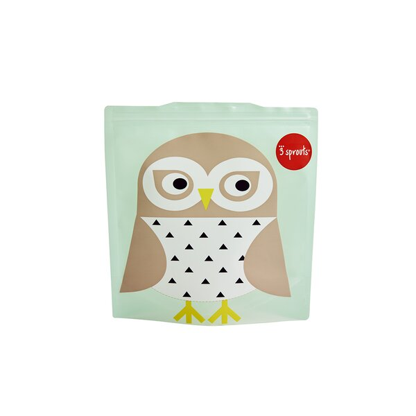 Owl Sandwich Bag (Set of 2) by 3 Sprouts