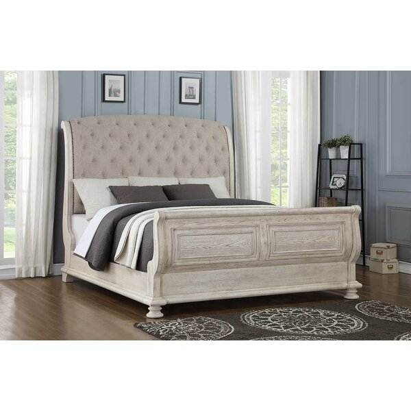 Piland Upholstered Sleigh Bed by One Allium Way