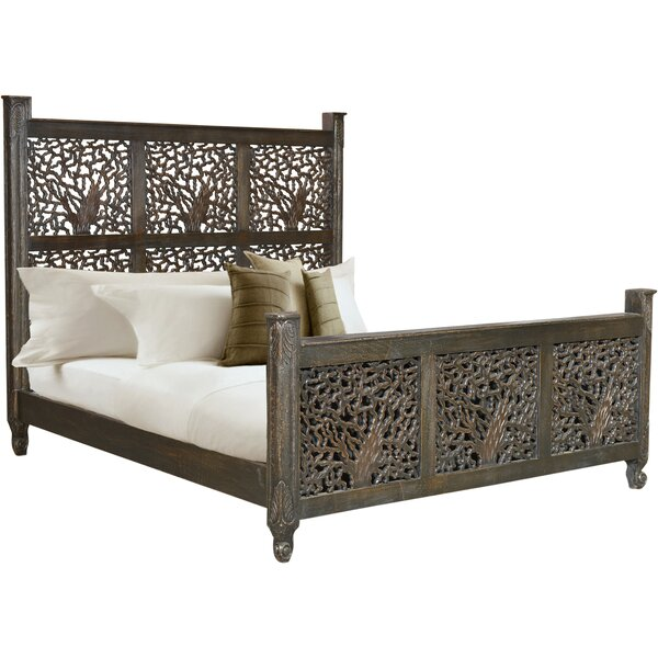 Halina Carved King Standard Bed by Bungalow Rose
