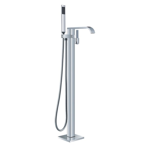 HelixBath Kaieteur Single Handle Floor Mount Freestanding Tub Filler by Kardiel