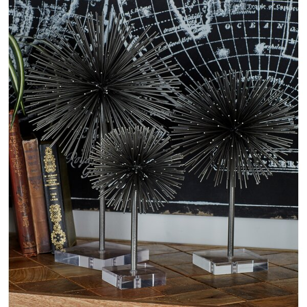 Metal and Acrylic 3 Piece Sculpture Set by Cole & Grey
