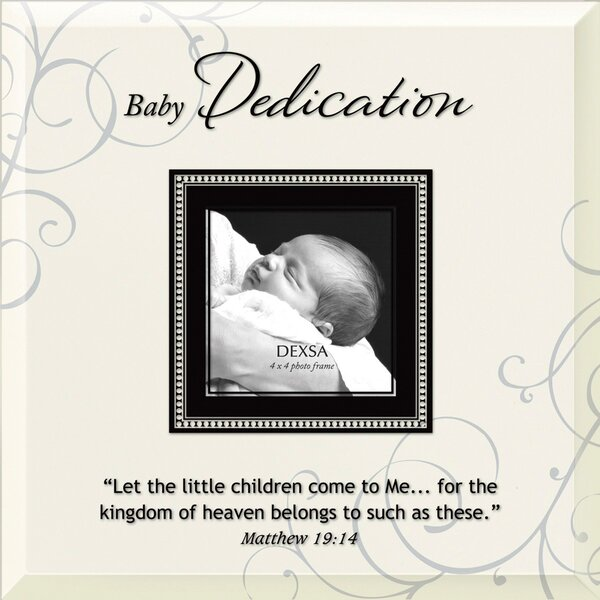 Baby Dedication Beveled Glass Picture Frame by Dexsa