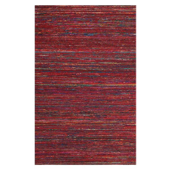 Tieast Hand Woven Red Area Rug by Bloomsbury Market
