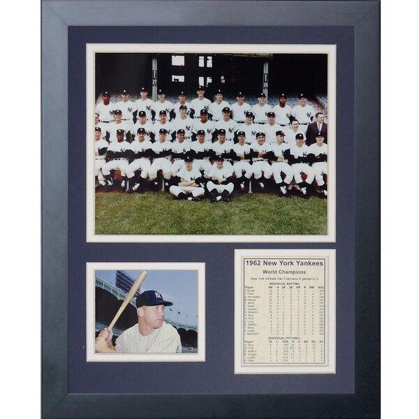 1962 New York Yankees Framed Memorabilia by Legends Never Die