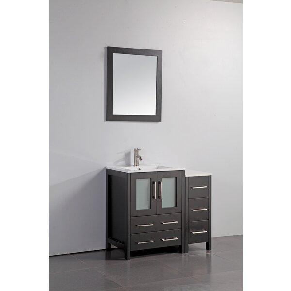 Karson 36 Bathroom Vanity Set with Mirror by Wade LoganKarson 36 Bathroom Vanity Set with Mirror by Wade Logan