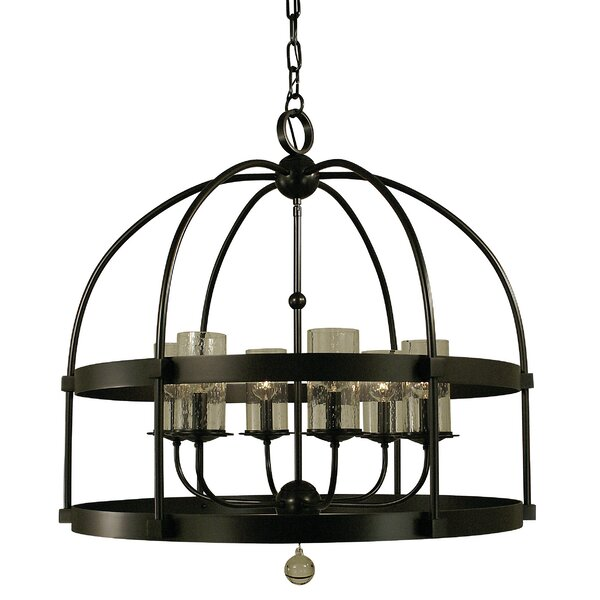 Reepham 6 - Light Lantern Geometric Chandelier By Darby Home Co
