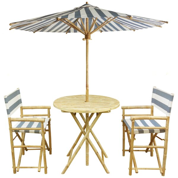 4 Piece Bar Height Dining Set by ZEW Inc