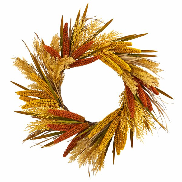Harvest Artificial 25 Polyester Wreath by August Grove