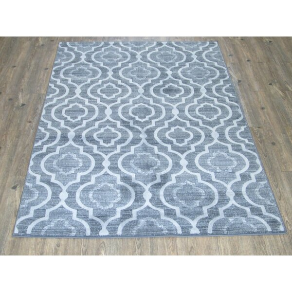 Emmaline Farmhouse Gray Indoor/Outdoor Area Rug by Red Barrel Studio