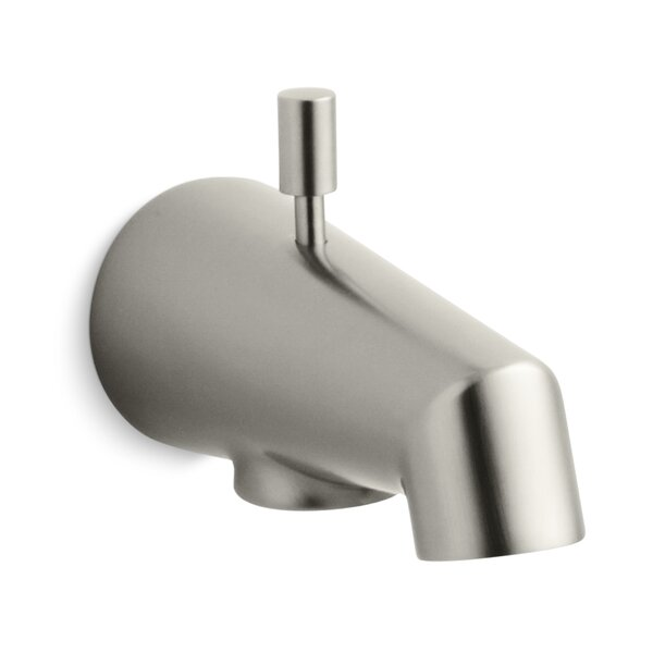 Standard 4-7/8 Diverter Bath Spout with Rod-Shaped Knob by Kohler