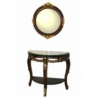 Console Table and Mirror Set By Three Star Im/Ex Inc.