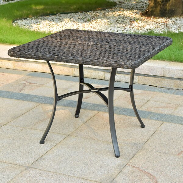 Phillip Wicker/Rattan Dining Table by Winston Porter
