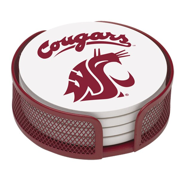 5 Piece Washington State University Collegiate Coaster Gift Set by Thirstystone
