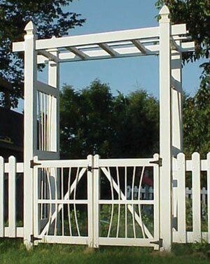 Courtyard Vinyl Arbor Gate by Dura-Trel