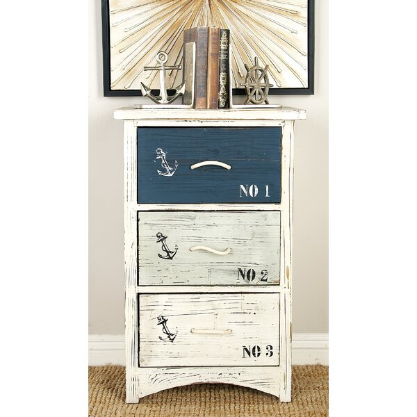 Waterview Nautica 3 Drawer Accent Chest by Beachcrest Home