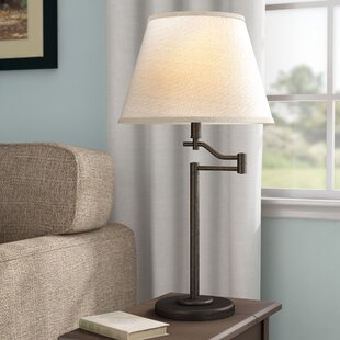 Reviews Waterville 3-Way Swing Arm 28.5 Table Lamp By Three Posts