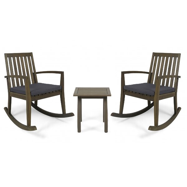 Brookport 3 Piece 2 Person Seating Group with Cushions by Union Rustic