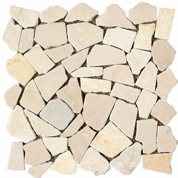 Marbella Random Sized Natural Stone Pebble Tile