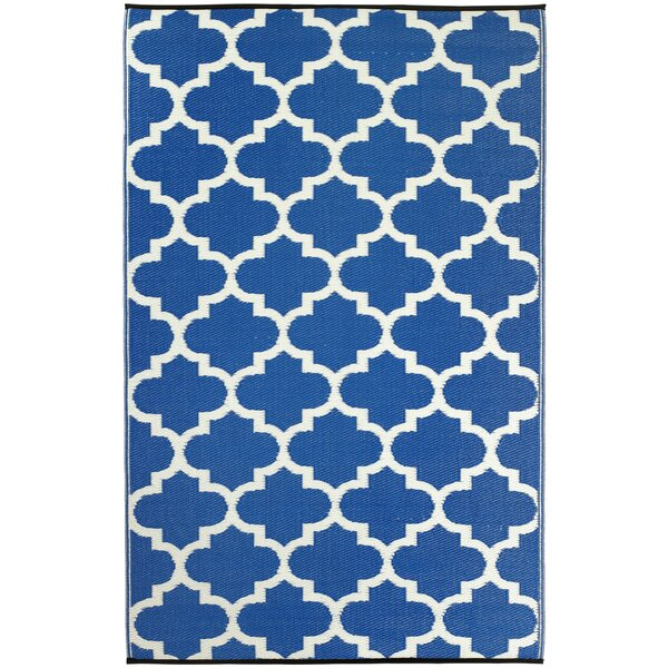 Martina Tangier Regatta Blue & White Indoor/Outdoor Area Rug by Andover Mills