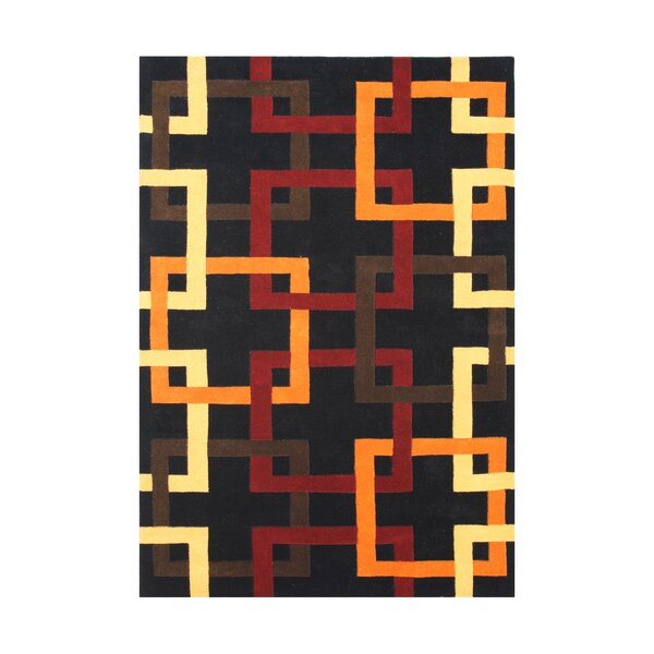 Worden Hand-Tufted Black Area Rug by The Conestoga Trading Co.