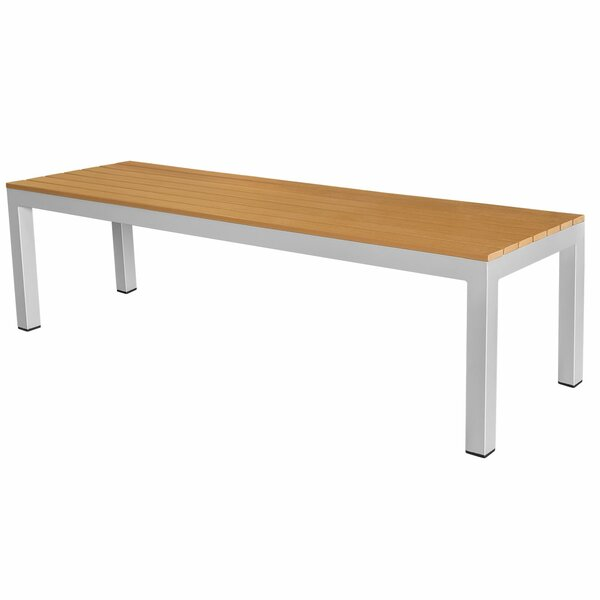 Vienna Backless Aluminum Picnic Bench by Source Contract Source Contract