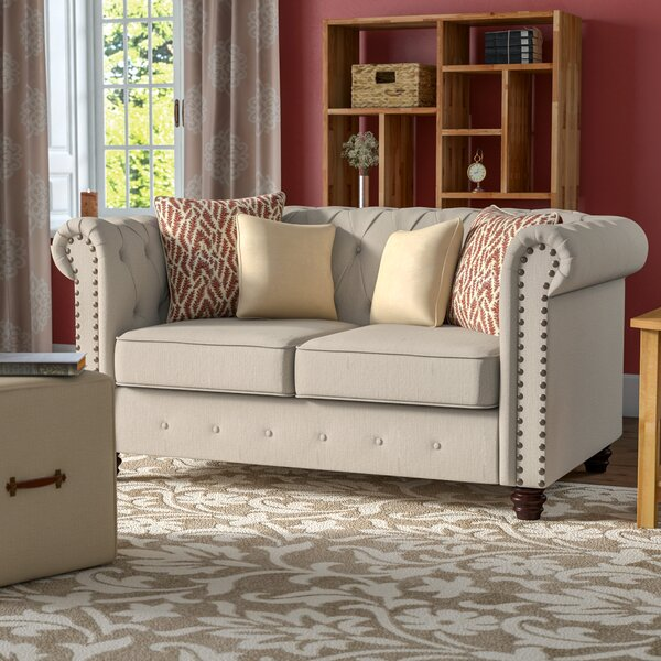 Lanesboro Chesterfield Loveseat by Alcott Hill
