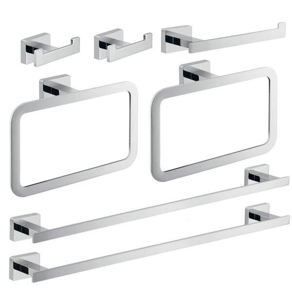 Atena 7 Piece Bathroom Hardware Set by Gedy by Nameeks