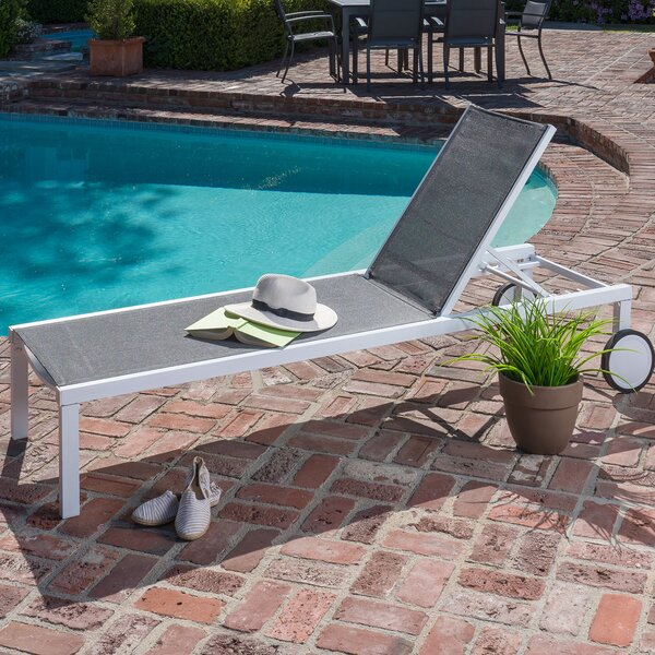 Jorge Adjustable Sling Reclining Chaise Lounge by Orren Ellis
