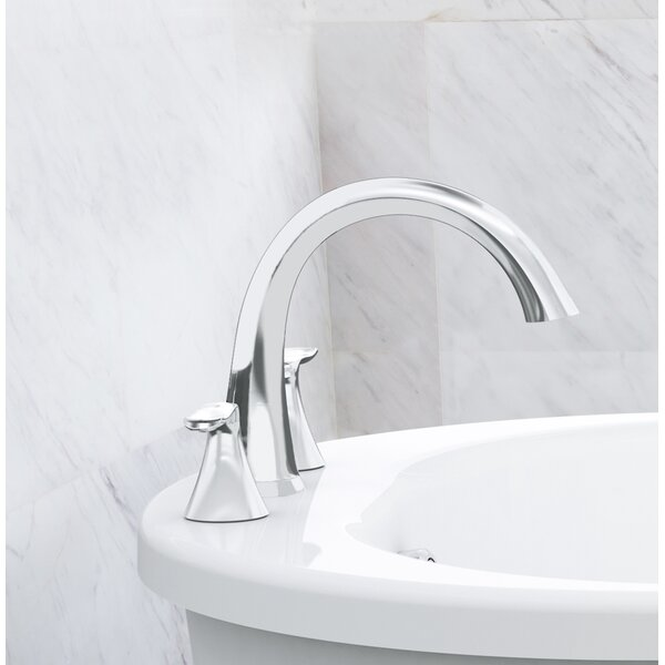 Piccolo Double Handle Deck Mounted Roman Tub Faucet With Diverter By JACUZZI®