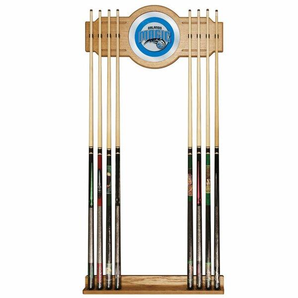 NBA Billiard Cue Rack with Mirror by Trademark Global