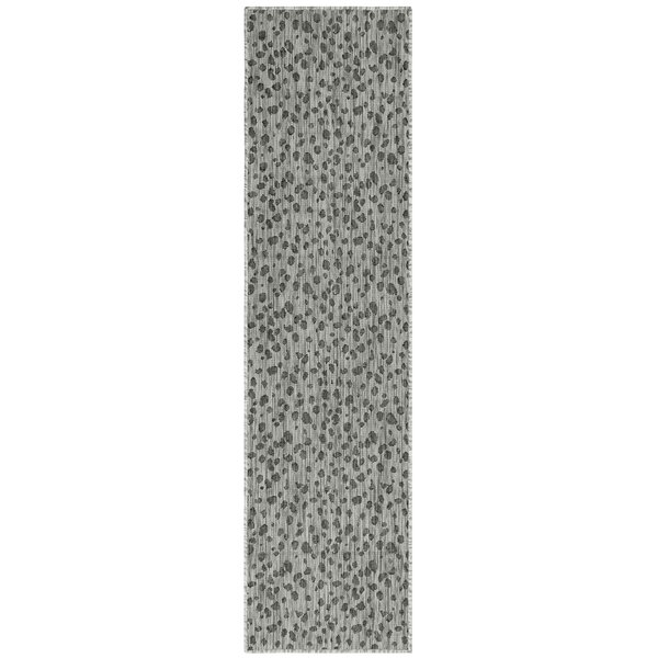 Osman Leopard Gray Indoor/Outdoor Area Rug by World Menagerie