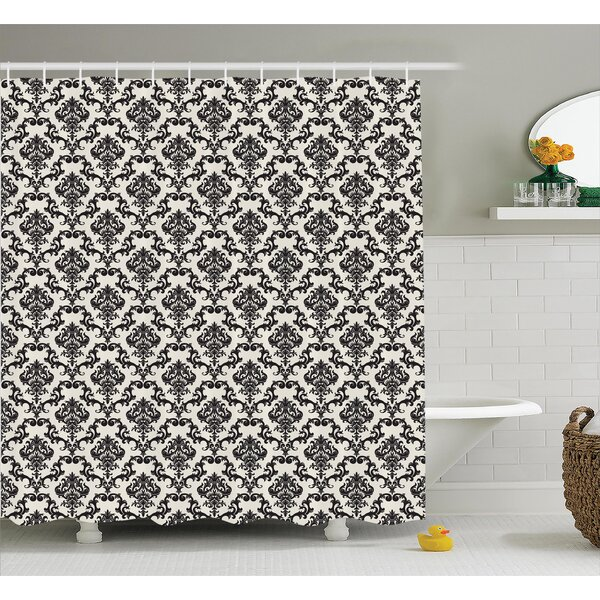 Floral Leaves Shower Curtain by East Urban Home