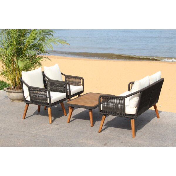 Rope 4 Piece Sofa Seating Group by Bungalow Rose