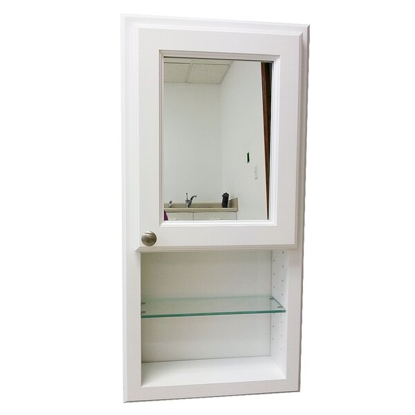 York Series 15.5 x 37.5 Recessed Medicine Cabinet by WG Wood Products