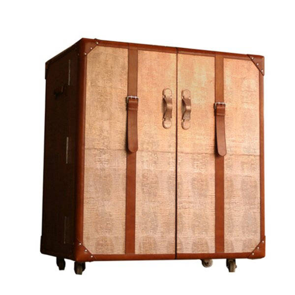 Leather Trunk Bar Cart by Serge De Troyer Collection