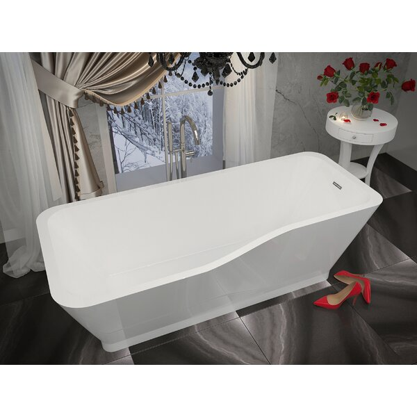 Salva 68.8 x 31.4 Freestanding Soaking Bathtub by ANZZI