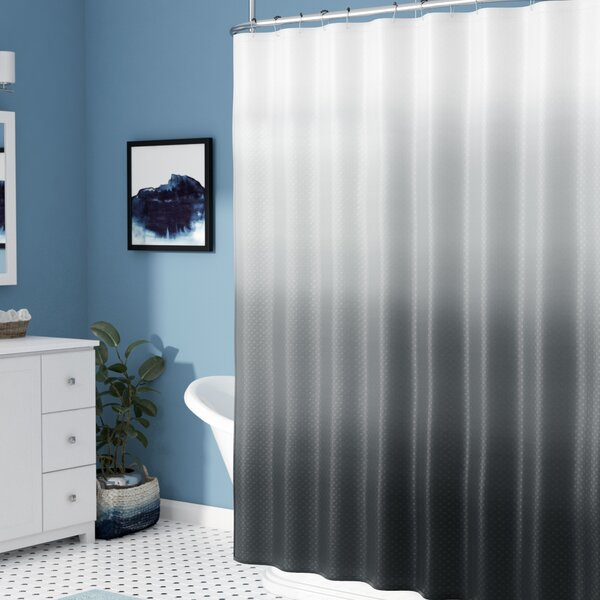 Charlesworth Waffle Fabric Weave Shower Curtain by Zipcode Design