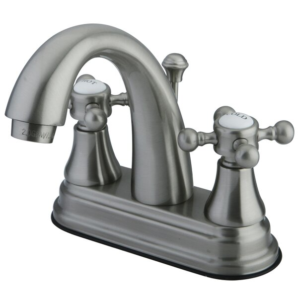 English Vintage Centerset Bathroom Faucet with Pop-Up Drain by Kingston Brass