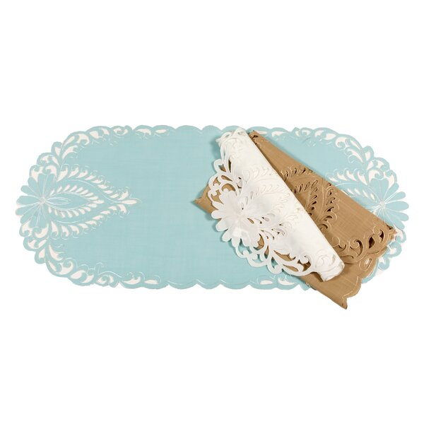 Wilshire Embroidered Cutwork 20 Placemat (Set of 4) by Xia Home Fashions