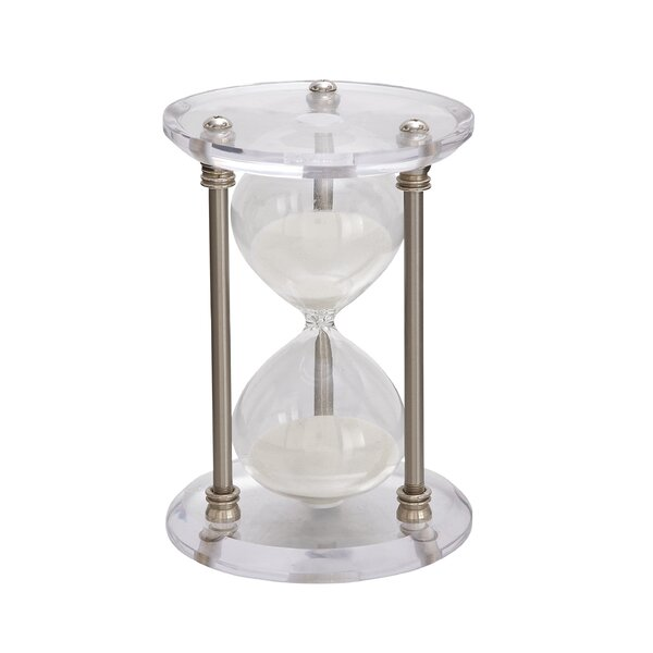 Acrylic and Metal Hourglass by Cole & Grey