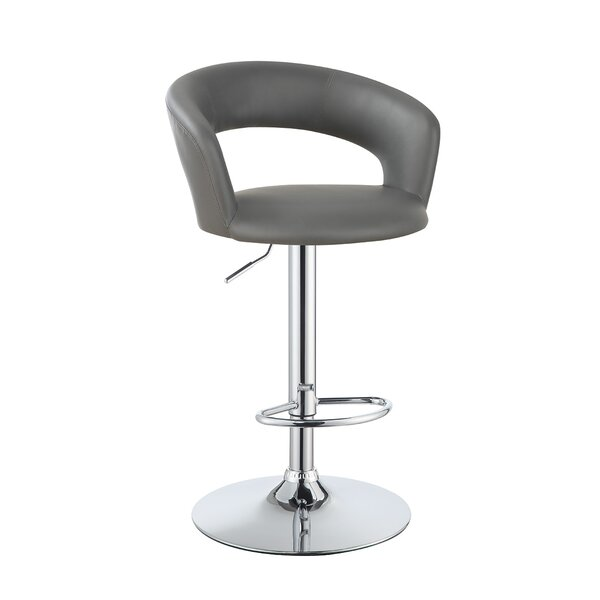 Zubin Adjustable Height Swivel Bar Stool by Orren Ellis