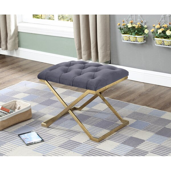 Centers Button-Tufted Upholstered Bench by Mercer41
