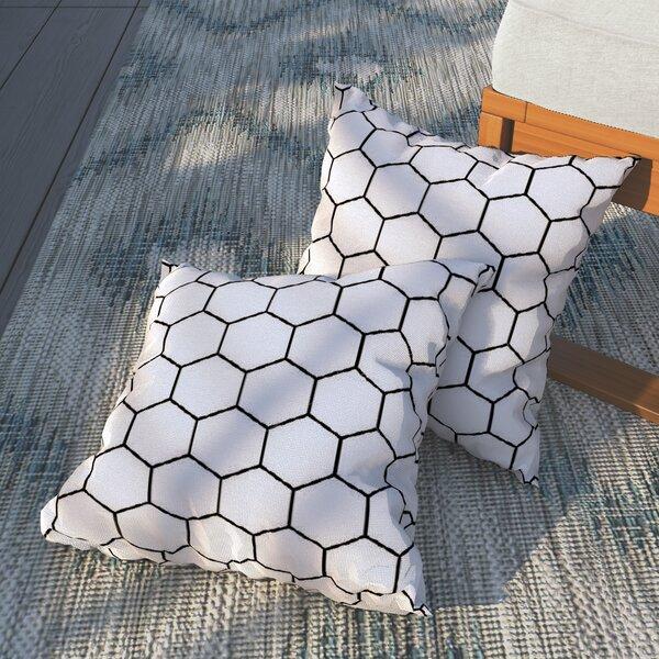 Duran Honey Comb Outdoor Throw Pillow by Brayden Studio