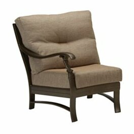 Ravello Right Side Crescent Module Patio Chair with Cushions by Tropitone