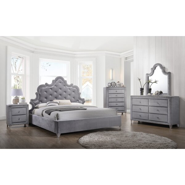 Spence Velvet Platform Configurable Bedroom Set by Rosdorf Park