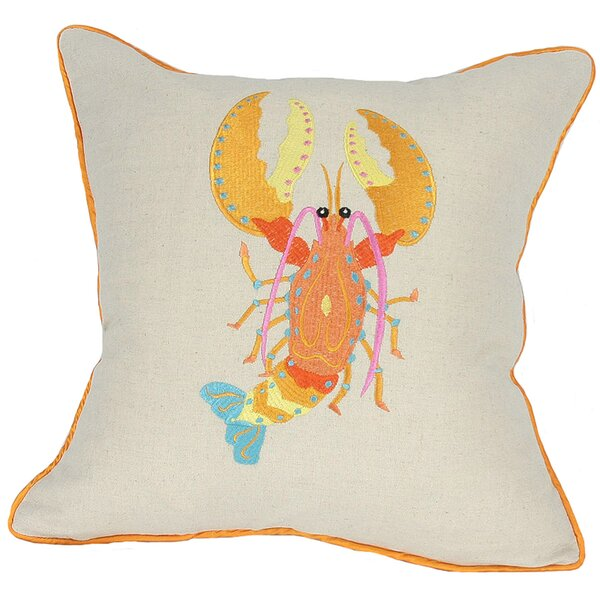 Archipelago Lobster Throw Pillow by Manor Luxe