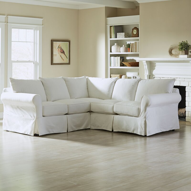 Astounding Jameson Slipcovered Symmetrical Sectional Bralicious Painted Fabric Chair Ideas Braliciousco